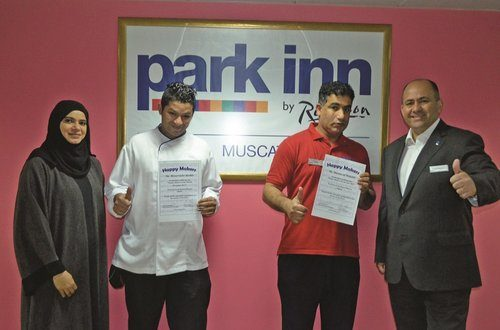 Two Omanis honoured with 'Employees of the Year' award by Park Inn Muscat