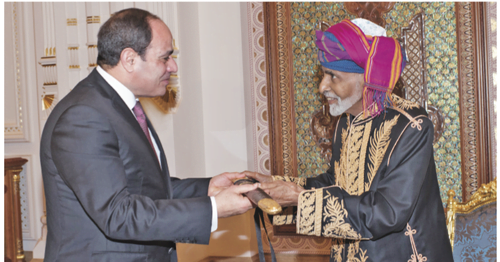 His Majesty the Sultan receives Egyptian President, reviews bilateral relations