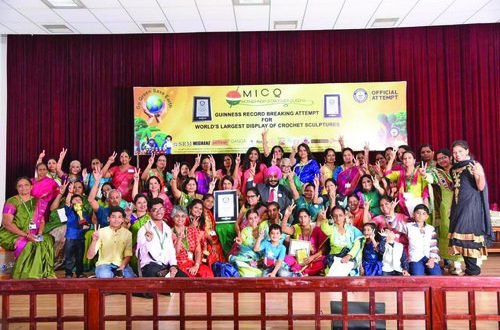 Mother India Crochet Queens create history with three Guinness World Records
