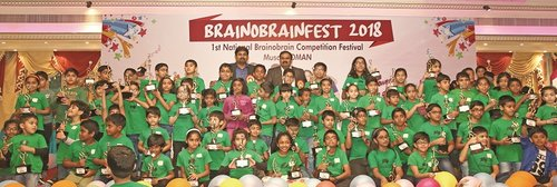 Over 700 children compete in National Abacus Competition