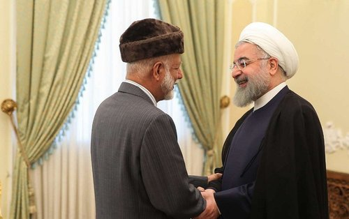 Iranian President meets H E Alawi, discusses regional and trade issues