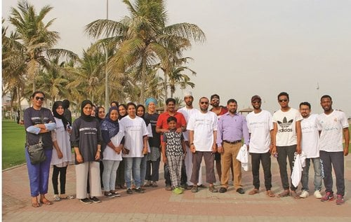 Beach clean-up organised by MCBS, Muscat Municipality