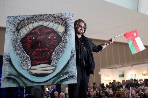 Gailani raises Omani flag high at Art Vancouver