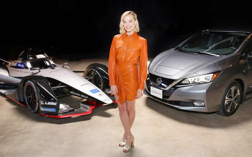 Margot Robbie headlines launch tour event of Nissan Formula E in Los Angeles