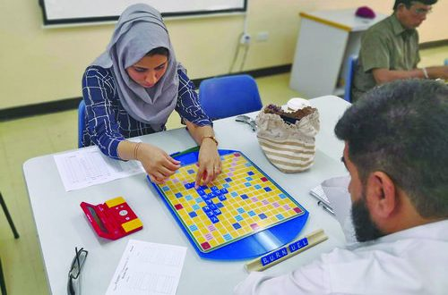 Third monthly Scrabble competition organised