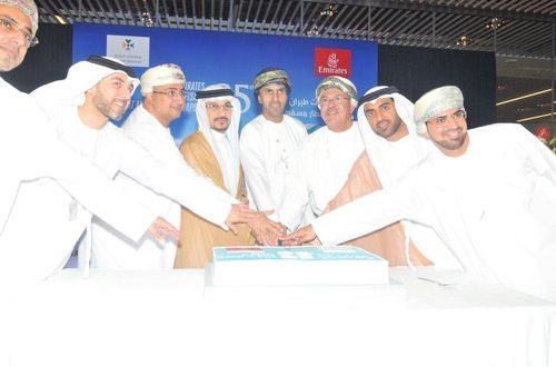 Emirates A380 flies to Muscat as part of 25th anniversary celebration