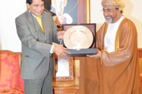H E Mehrzi receives Indian minister
