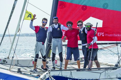 Oman Sail's Diam team #SailingArabia ends Tour Voile on high note with best result until date