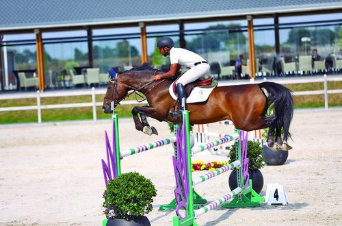 Omani showjumper Sultan al Tooqi finishes third in Holland