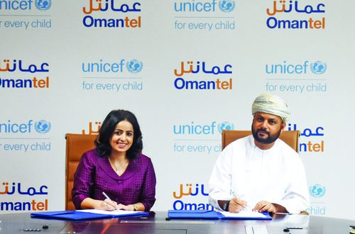 Omantel and Unicef to advocate well-being of children