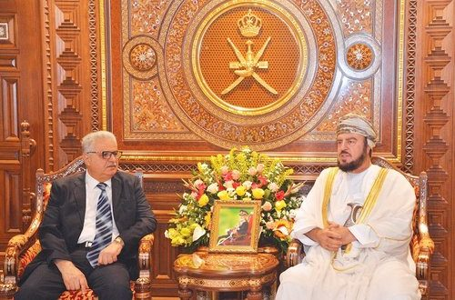 Sayyid Asa'ad meets outgoing Palestinian, Indian envoys