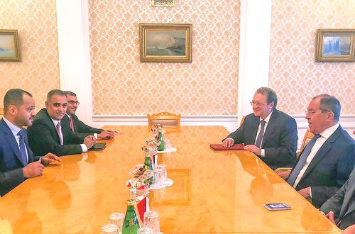Sayyid Badr meets Russian Foreign Minister
