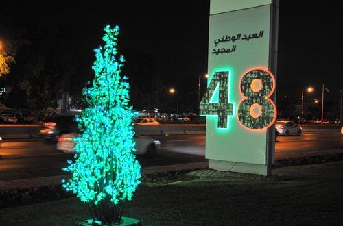 48th National Day celebrations lighting being tested