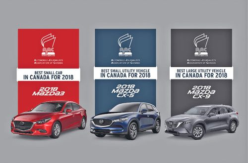 Japanese automaker Mazda wins four awards for best car in Canada
