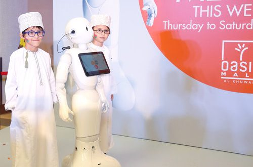 Landmark Group introduces humanoid robot at Oasis Mall