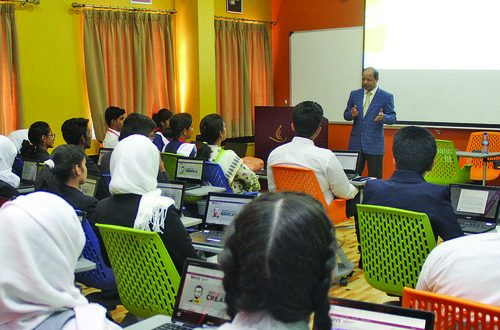 Majan University College organises leadership training event for Indian schools