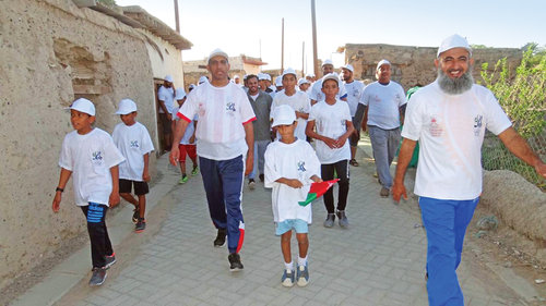 March in Al Qabil village to boost tourism in Sharqiyah