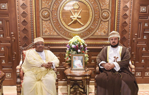 His Majesty the Sultan receives written message from Comorian President