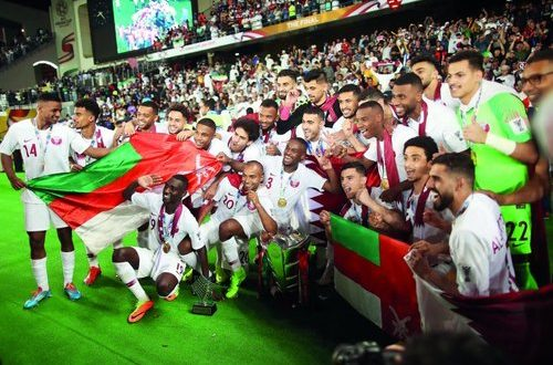 Omanis celebrate Qatar's Asian Cup title