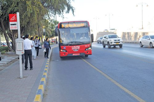 26 parking bays for Mwasalat buses