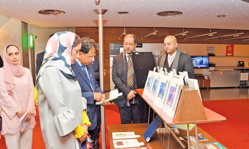 H E Hasani visits French library
