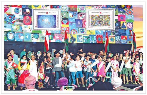 Oman Post calls for peace through stamps