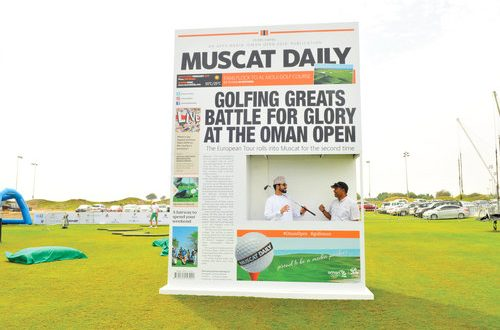 Winds fail to dampen spirits of visitors at Oman Open