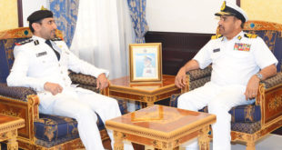 RNO commander meets Bahraini officer