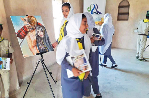 Students exhibit art at Liwa Fort