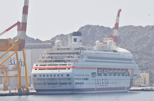 India's first cruise liner calls at PSQ