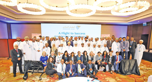 Oman Air conference reviews contribution of airport managers