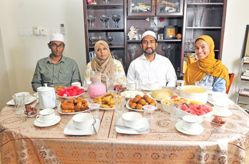 A colourful, traditional iftar from Sri Lanka