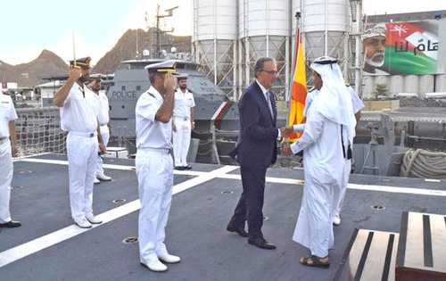 Spanish naval vessel visits Muscat to boost ties with RNO
