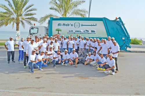Al Nab'a employees engage in beach clean-up campaign in Azaiba