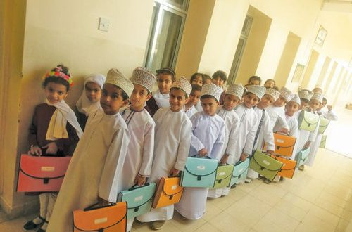 From bags to folders: North Batinah school shows the way