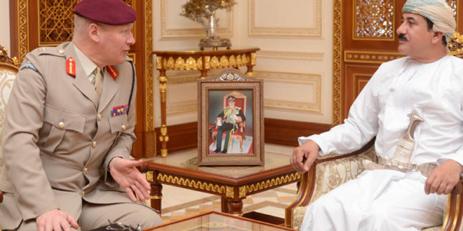 H E Gen Nu'amani meets British military official
