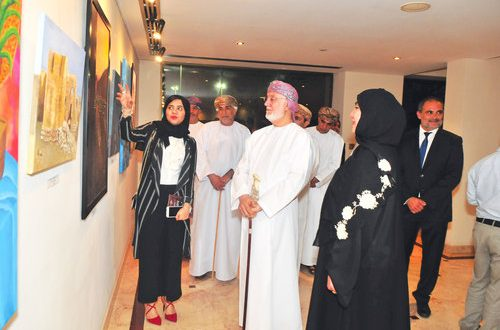 Seventeen artists display their works at Crowne Plaza Muscat