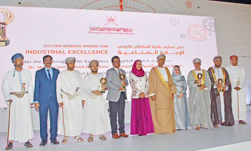 Winners of Sultan Qaboos Award for Industrial Excellence honoured
