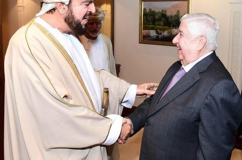 Sayyid Asa'ad receives Syrian Deputy PM, discusses cooperation areas